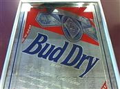 "BUD DRY FRAMED MIRROR 17"" X 22"""